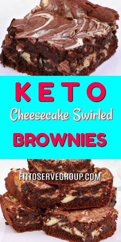 Jul 2019 - My recipe for keto cheesecake swirled brownies has the best qualities of both cheesecake and a brownie. They are rich, fudgy brownies that feature a generous swirl of cheesecake. And frankly the make one delicious keto treat. Keto Brownies Keto Cheesecake, Cheesecake Swirl Brownies, Cream Cheese Brownies, Cream Cheese Cookies, Desserts Keto, Keto Friendly Desserts, Dessert Recipes, Breakfast Recipes, Recipes Dinner