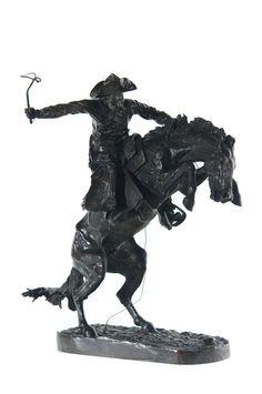 37 The Broncho Buster, Frederic Remington, Henry Bonnard cast,The Coeur d'Alene Art Auction 2012