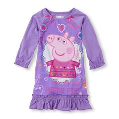 Girls Long Sleeve Peppa Pig Nightgown Pajama Dress New with Tags Size 4T!! HTF #Nickelodeon #Nightgown