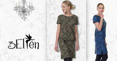 Short Sleeve Dresses, Dresses With Sleeves, T Shirts For Women, Tops, Fashion, Black Flowers, Elves, Long Dresses, Moda