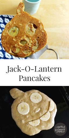 We use this tasty pumpkin pancake recipe to make Jack-O-Lantern pancakes for breakfast (and dinner) around Halloween. Delicious and full of pumpkin flavor!