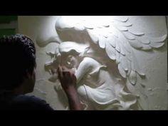 گالری آراز - YouTube Plaster Crafts, Plaster Art, Plaster Walls, Plaster Sculpture, Wall Sculptures, Sculpture Art, Mural Art, Wall Art, Some Ideas