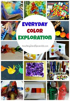 Everyday color exploration - a collection of our favorite color activities for preschoolers - Teaching 2 and 3 Year Olds