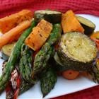 """Roasted Vegetable Medley  """"This colorful dish has the perfect blend of sweet and savory. It is simple to prepare and can be served as a side dish, salad, or light meal. Feel free to substitute whatever veggies and herbs you have on hand."""""""