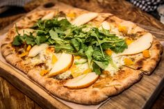 Butternut Squash & Pear Pizza at The Farm Table Restaurant. Bernardston, MA Farm to Table Rustic Fine Dining.