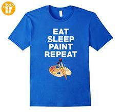 Eat Sleep Paint Repeat Painters Gift T-Shirt - Herren, Größe M - Königsblau (*Partner-Link)