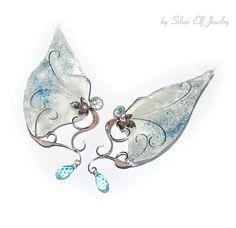 Elf ear cuffs Ice Princess Elven Wedding elf ear wrap