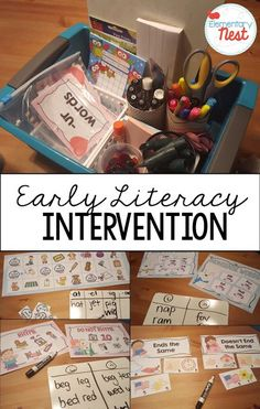 Intervention Activities for kindergarten and first grade students- working on skills that students need extra practice, these hands on intervention activities help students practice skills they are struggling with. Helpful to parents and teachers. Kindergarten Language Arts, Kindergarten Literacy, Early Literacy, Preschool, Literacy Skills, Literacy Activities, Reading Activities, Literacy Stations, Reading Resources