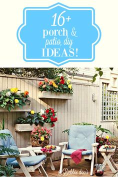 Patio and porch decorating and diy ideas