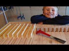 Bee Hive Frame for a top-bar hive: Build Your Own - YouTube