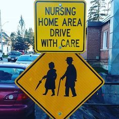 Old people crossing sign. #mildyinteresting