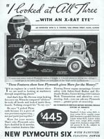 Plymouth Six G. R. Stevens 1933 Ad Picture