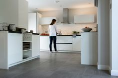 Pietra Serena has soft veining and a smooth feel, perfect for floors and walls.