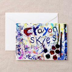 crayon skies abstract greeting card