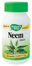 Natural Remedy for Acne-Neem by Natures Way - Buy Neem (475 MG) 100 Capsules at the Vitamin Shoppe
