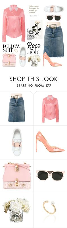 """""""Touched by a Rose...."""" by sue-mes ❤ liked on Polyvore featuring Golden Goose, Alexis Mabille, Valentino, Francesco Russo, Dolce&Gabbana, Victoria Beckham and Hueb"""