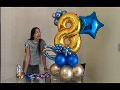 Balloon Crafts, Birthday Balloon Decorations, Balloon Gift, Diy Party Decorations, Birthday Balloons, Foil Number Balloons, Small Balloons, Balloon Arrangements, Balloon Centerpieces