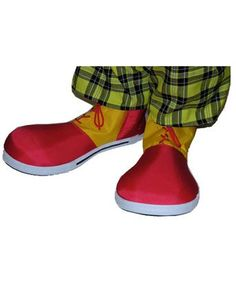 Red Yellow Clown Shoes Adult Costume Accessory