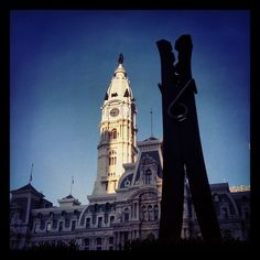 Clothespin Statue and Philadelphia City Hall, Philadelphia, PA