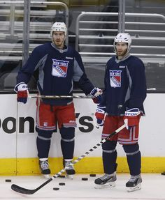 Girardi and McDonagh: NHL Stanley Cup Final: Practice Sessions