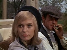 Bonnie and Clyde Faye Dunaway.  There are better images from this great film but I love Dunaway's face and look here