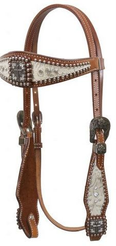 Showman RAWHIDE /& TURQUOISE Stones DARK BROWN Argentina Cow LEATHER HEADSTALL