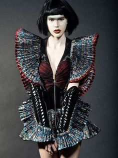 Futuristic Warrior Fashion - The Morfium Couture 'Full Moon' Spread by Dusan Jaukovic is Striking (GALLERY)