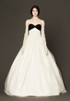 Like this without the black. Wedding Dresses, Bridal Gowns by Vera Wang | Spring 2014