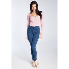 Bluza roz deschis scurta lungime pana in talie Fobya Skinny, Jeans, Fashion, Tricot, Fashion Styles, Thin Skinny, Skinny Pig, Fashion Illustrations, Trendy Fashion
