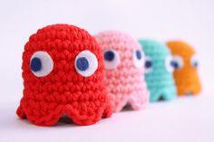 Pacman Ghost crochet pattern. $3.00, via Etsy.