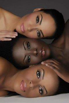 Different shades of beauty. #makeup #darkskinned makeup #complexion
