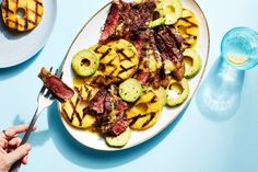 3 Ingredient Grilled Pineapple, Steak, and Avocado / Photo by Chelsea Kyle, Food Styling by Olivia Mack Anderson Best Grilled Steak, Grilled Steak Recipes, Grilled Meat, Grilling Recipes, Meat Recipes, Paleo Recipes, Dinner Recipes, Cooking Recipes, Salads