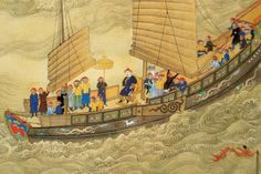 Emperor Kangxi on tour, early 18th century, Qing Dynasty, China.