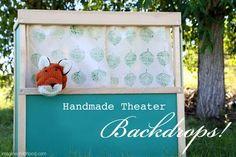 . . . handmade puppet theater backdrops