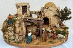 Diy Nativity, Christmas Nativity Scene, Christmas Cave, Christmas Houses, Fairy Garden Houses, Ceramic Houses, Glitter Houses, Handmade Christmas, Portal