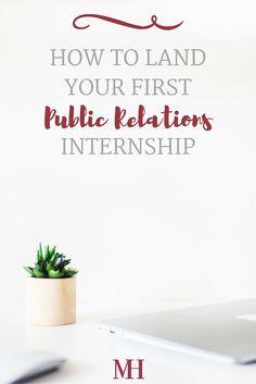 Public Relations Internship College Students