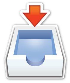 Inbox Tray | EmojiStickers.com