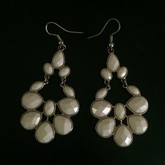 Free with any purchase. Must comment below. Beautiful Cream & Gold chandelier style fashion earrings Jewelry Earrings