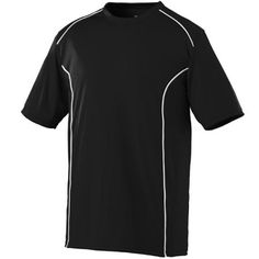 Black and white adult winning streak short sleeve shirt. Customize with your team's logo at Unitedteamsports.com