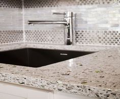 Hoffman CountertopsEnvironmentally Friendly Recycled Glass Countertops for the kitchen.  