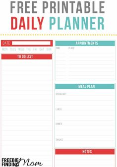 this free printable daily planner will help you organize your