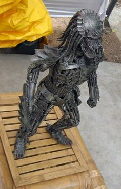 #Sculpture #Metal #Work #Scrap #Alien #Predator #Yaujta