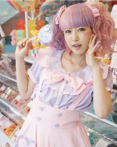 Collaboration uniform with 「CANDY A☆GO☆GO! Harajuku Takashita Street Store」♪ It's the jumper skirt … Harajuku Mode, Harajuku Fashion, Kawaii Fashion, Lolita Fashion, Cute Fashion, Asian Fashion, Girl Fashion, Sweet Fashion, Harajuku Style