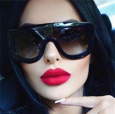 5099f4fbfa 2017 Fashion Super Star Style Summer Cool Sunglasses for Women Oversiz