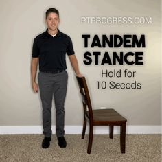 Looking to improve your balance? Research shows that balance exercises for seniors can significantly reduce the risk of falls. Here are the top balance exercises I recommend for my patients. Balance Ball Exercises, Stability Ball Exercises, Knee Exercises, Chair Exercises, Yoga Videos, Workout Videos, Fat Workout, Workouts, Senior Fitness