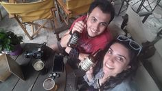 Local beer trying in Meseonas Bar, Mesta, Chios // Meseonas Bar'da yerel bira tadımı, Mesta, Sakız