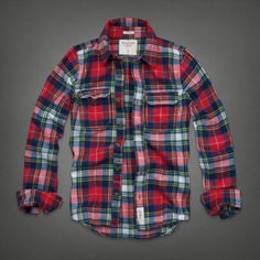 Extended sizes, limited edition designs and more for men and women from the biggest A&F outfitter in the world.Shop here for enduring style that's always evolving. Plaid Fashion, Mens Fashion, Mens Flannel Shirt, Plaid Flannel, Abercrombie Men, All American Clothing, Sharp Dressed Man, Clothing Co, Vintage Men