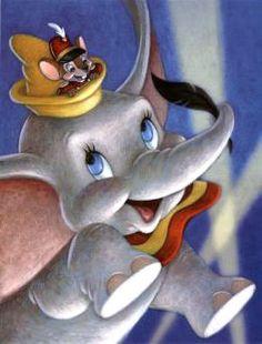 Dumbo feliz com seu ratinho amigo Timóteo #dumbo dumbo e timoteo