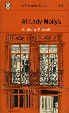 Orange cover penguin book cover Anthony Powell At Lady Molly's