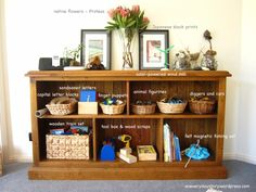 Pretty block organization. I love the baskets and the nice arrangement on top.